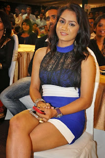 Actress Smitika Acharya  Pictures in Short Dress at Jabilli Kosam Akasamalle Audio Launch 0008.jpg